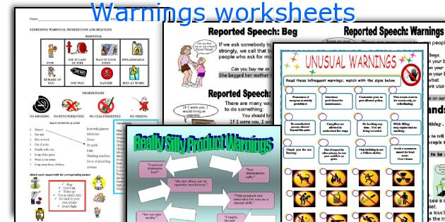 Warnings worksheets
