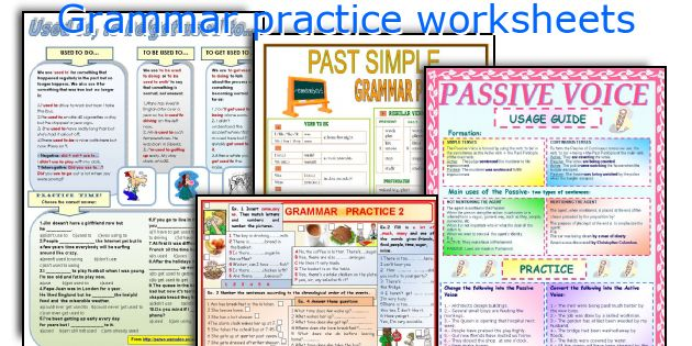 Grammar practice worksheets