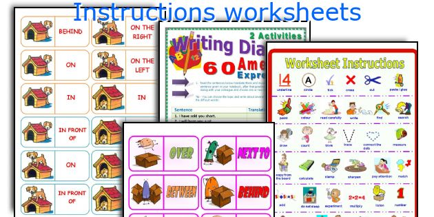 Instructions worksheets
