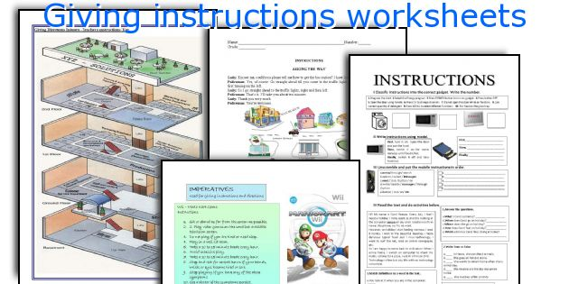 Giving instructions worksheets