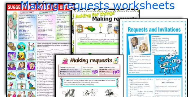 English teaching worksheets: Making requests