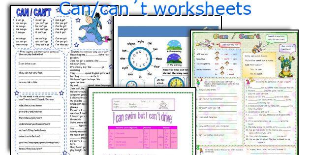 1029 FREE ESL can worksheets