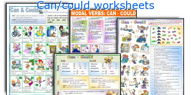Can/could worksheets