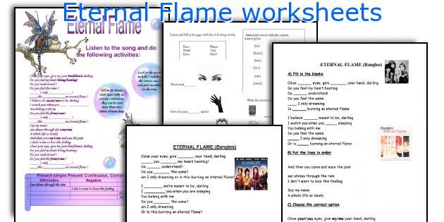 Eternal Flame worksheets
