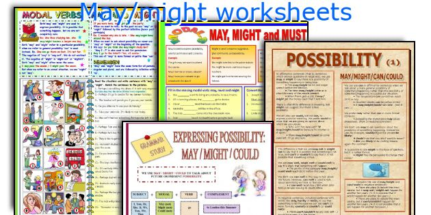 May/might worksheets