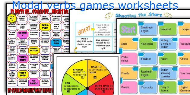 Modal verbs games worksheets