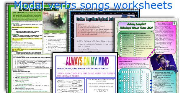 Modal verbs songs worksheets