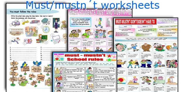 English teaching worksheets: Must/mustn´t