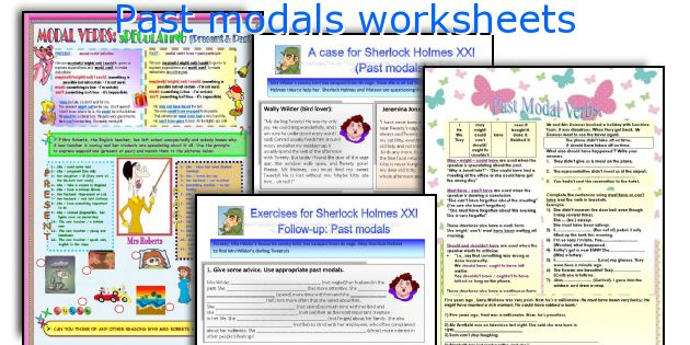 Past modals worksheets