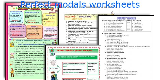 Perfect modals worksheets