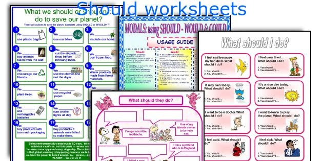 Should worksheets