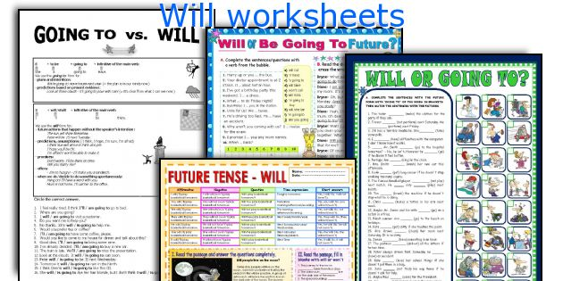 Will worksheets