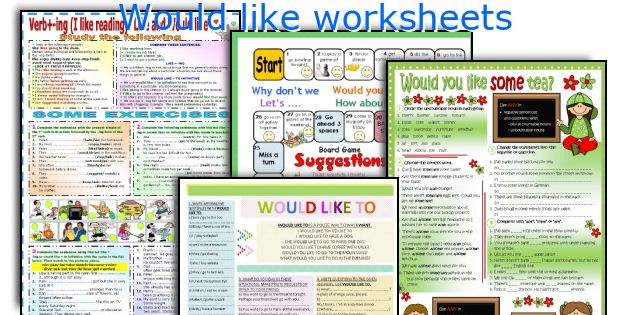 Would like worksheets