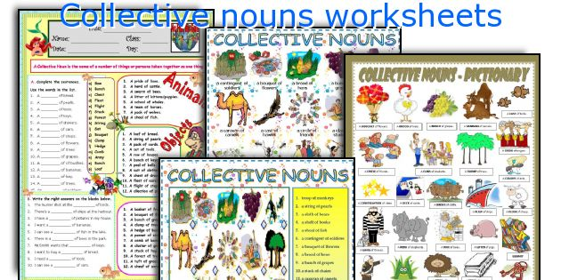 Collective nouns worksheets