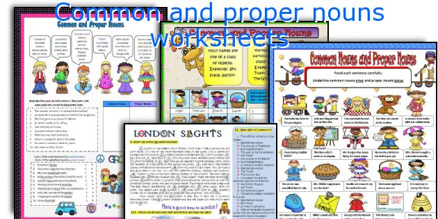 English teaching worksheets Common and proper nouns – Common Noun and Proper Noun Worksheet