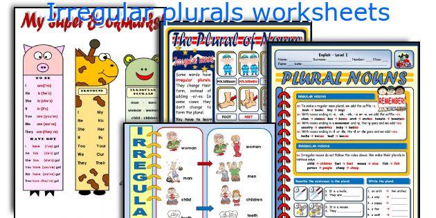 English teaching worksheets Irregular plurals – Irregular Plurals Worksheets