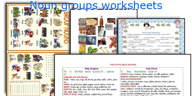 English teaching worksheets: Noun groups