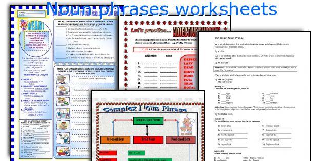Noun phrases worksheets