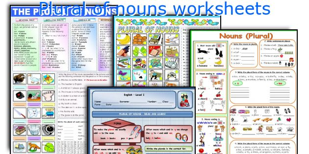Plural of nouns worksheets