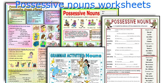 English teaching worksheets Possessive nouns – Plural Possessive Nouns Worksheet