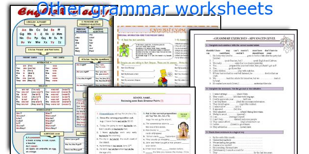 Other grammar worksheets