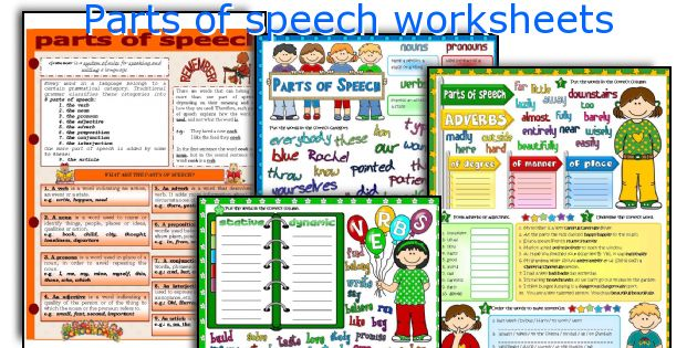 English teaching worksheets: Parts of speech
