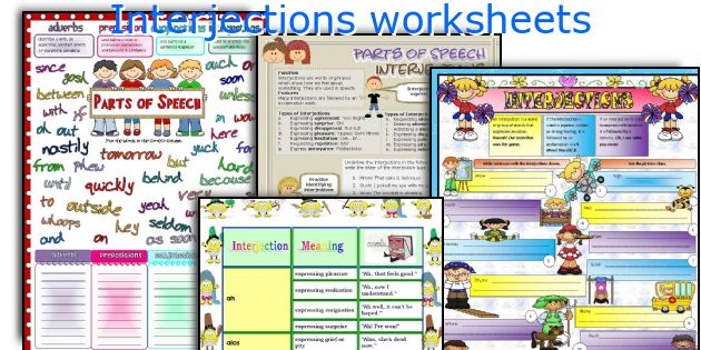 English teaching worksheets Interjections – Interjections Worksheet