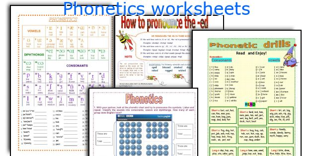 Phonetics worksheets