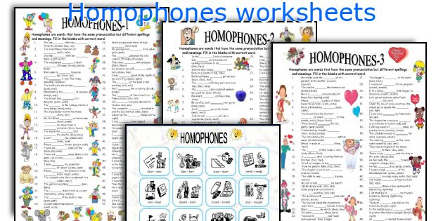English teaching worksheets: Homophones