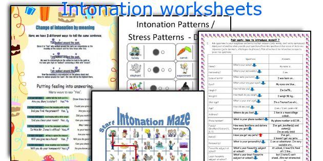 Intonation Worksheets