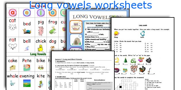 English teaching worksheets Long vowels – Short and Long Vowel Worksheets