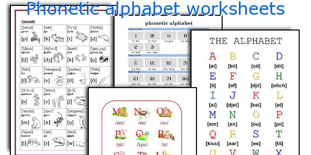 Phonetic Alphabet Worksheets