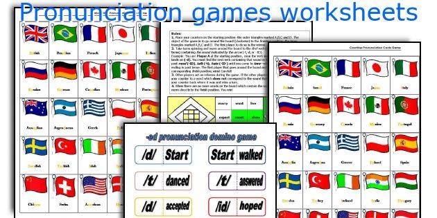 Pronunciation games worksheets