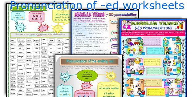 Pronunciation of -ed worksheets