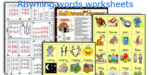 Rhyming Words Worksheets. Printable. Rhyming Words Printable At Clickcart.co