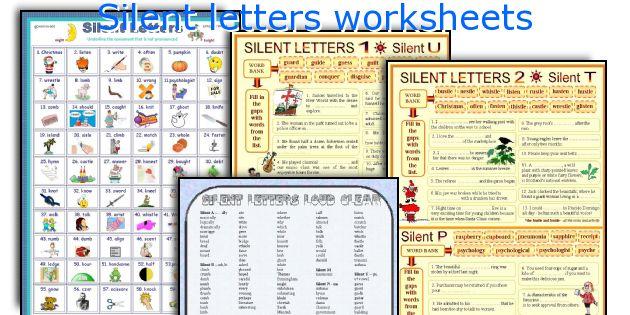 silent letters worksheets. Black Bedroom Furniture Sets. Home Design Ideas