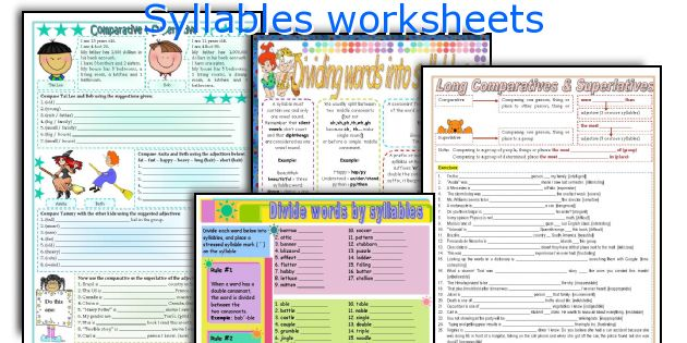 English teaching worksheets Syllables – Syllables Worksheets