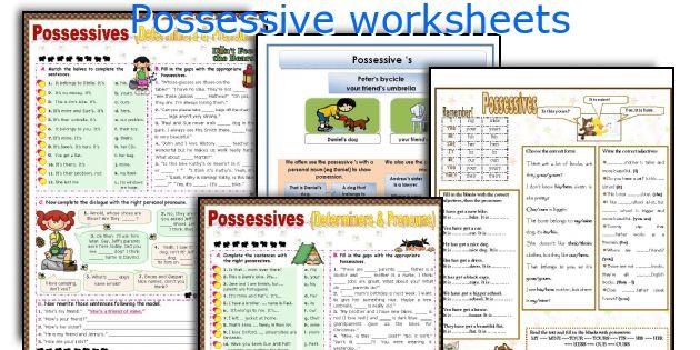 Possessive worksheets