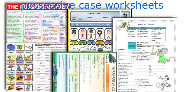 possessive case worksheets