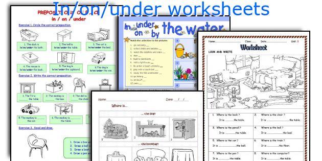 In/on/under worksheets