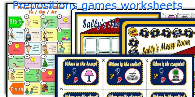 Prepositions games worksheets