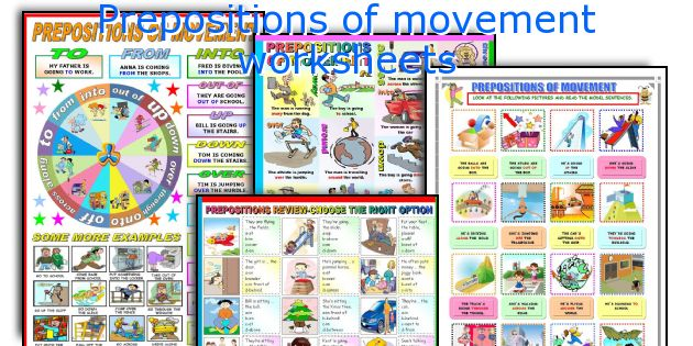 Prepositions of movement worksheets