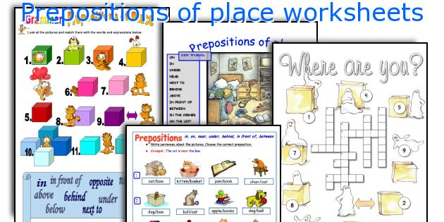 English teaching worksheets Prepositions of place – Prepositions of Place Worksheet