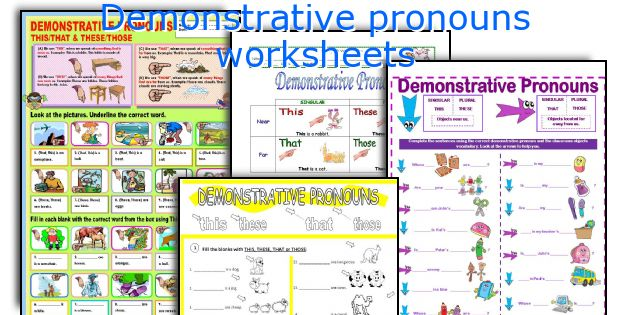 English teaching worksheets Demonstrative pronouns – Demonstrative Adjectives Worksheets
