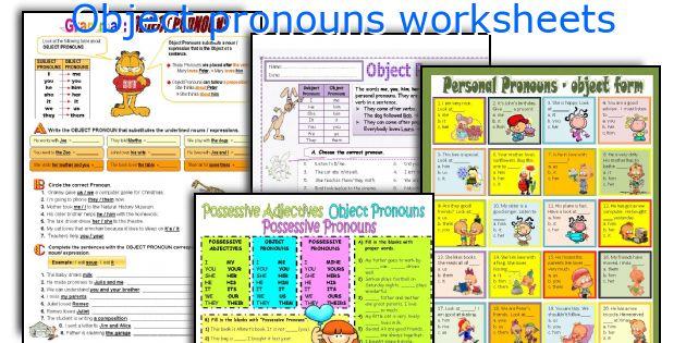 Object pronouns worksheets