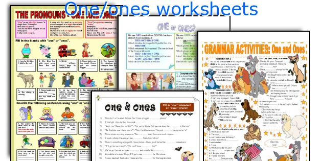One/ones worksheets