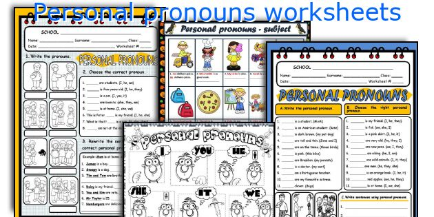 English teaching worksheets: Personal pronouns