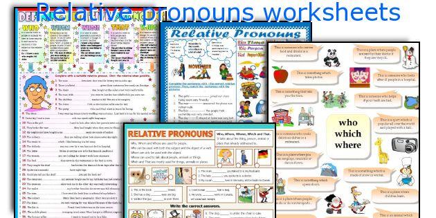 English teaching worksheets Relative pronouns – Relative Pronouns Worksheet