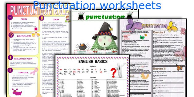 English teaching worksheets Punctuation – Teaching Worksheets