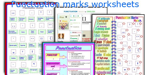 english teaching worksheets punctuation marks. Black Bedroom Furniture Sets. Home Design Ideas